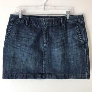 Gap denim mini skirt 14